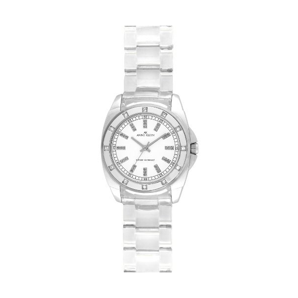 Anne Klein Women's 10-9179WTCL White Plastic Quartz Watch