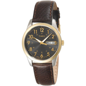 Timex Men's Style T2N106 Grey Calf Skin Quartz Watch