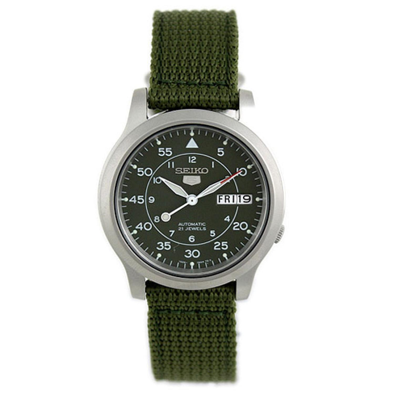 Seiko_Men's_5_Automatic_SNK805K2_Green_Cloth_Automatic_Fashion_Watch