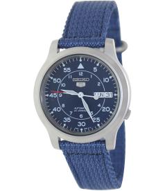 Seiko Men's 5 Automatic SNK807K2 Blue Cloth Automatic Watch