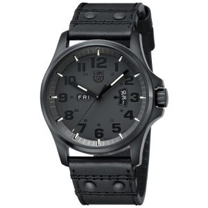 Luminox Men's LAND 1879.BO Black Calf Skin Quartz Watch