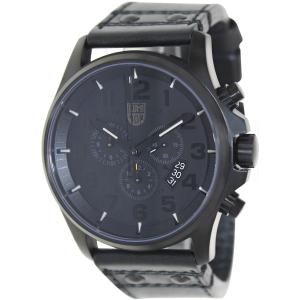 Luminox Men's 1881.BO Black Leather Swiss Quartz Watch