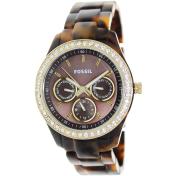 Fossil Women's Stella ES2795 Brown Plastic Quartz Watch