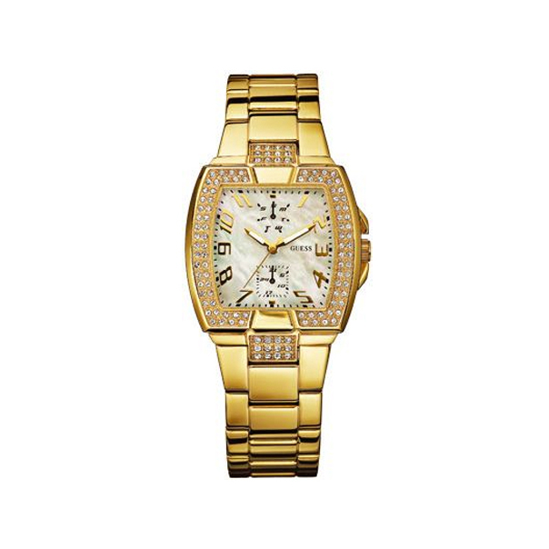 Guess Women's W16557L1 Mother-Of-Pearl Stainless-Steel Quartz Watch