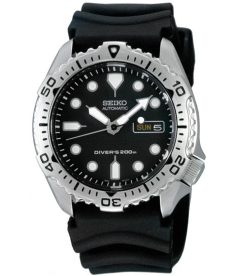 Seiko Men's SKX171K Black Rubber Automatic Watch