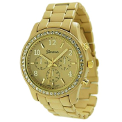 Geneva Platinum Women's 9073.Gold Gold Metal Quartz Watch