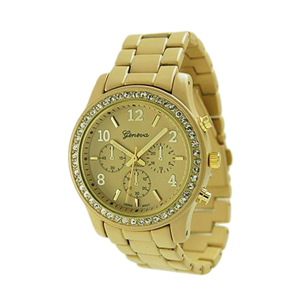geneva platinum s 9073 gold gold metal quartz