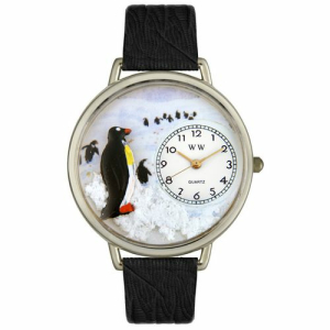 Whimsical Watches Unisex Penguin in Silver Watch U0140006
