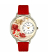 Whimsical Watches Unisex Valentine's Day (Red) in Silver Watch U1220033 - Main Image Swatch
