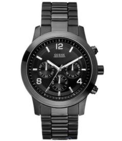 Guess Men's U15061G1 Black Stainless-Steel Quartz Watch