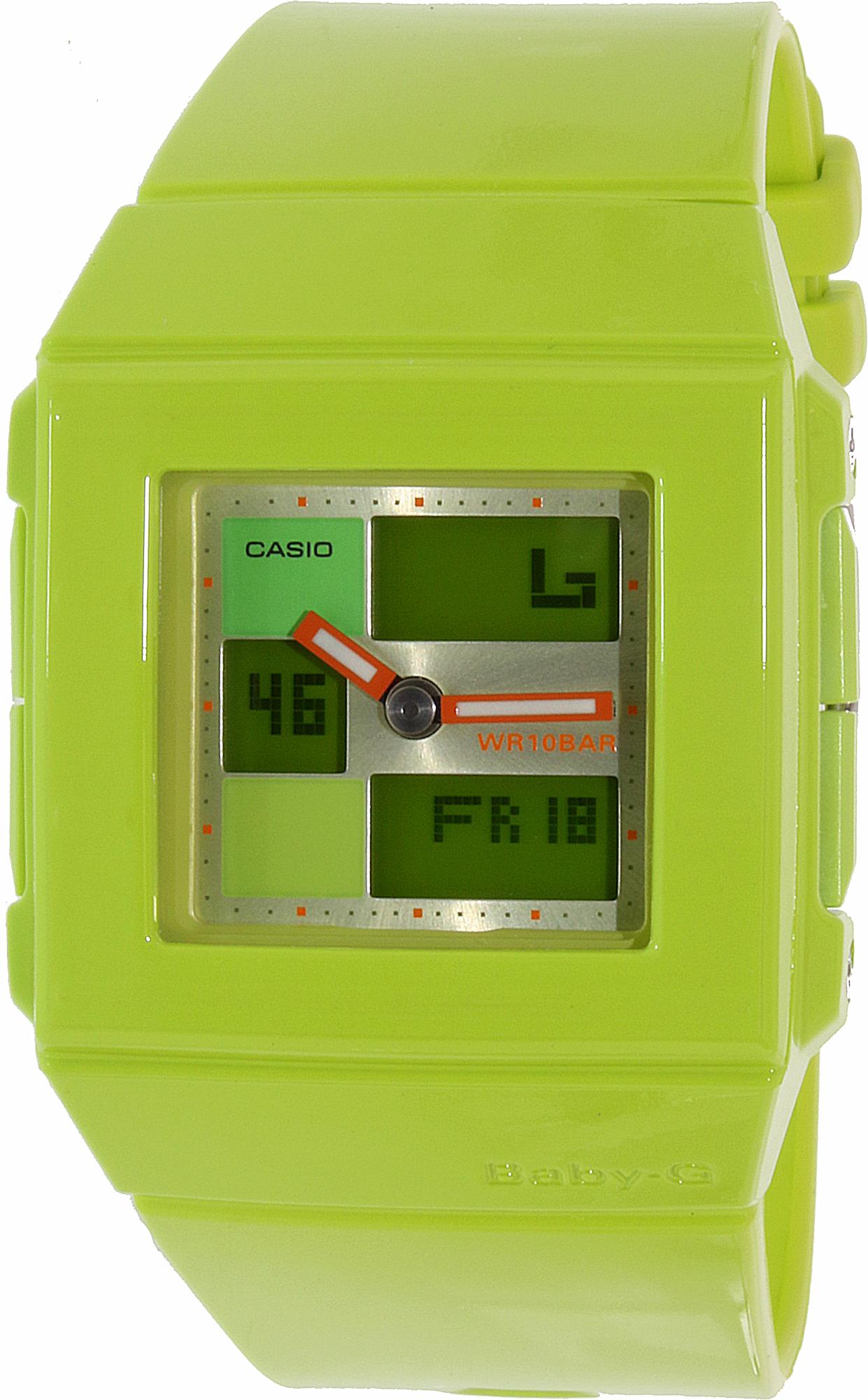 Casio_Womens_BabyG_BGA2003E_Green_Resin_Quartz_Fashion_Watch