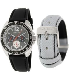 Nautica Men's Sport N09910G Black Resin Quartz Watch