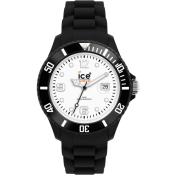 Ice-Watch Women's SI.BW.B.S.10 Black Silicone Quartz Watch
