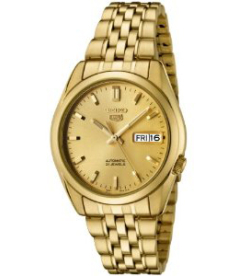 Seiko Men's 5 Automatic SNK366K Gold Stainless-Steel Automatic Watch