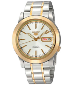 Seiko Men's 5 Automatic SNKE54K White Stainless-Steel Automatic Watch