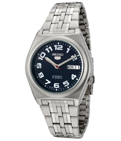 Seiko Men's 5 Automatic SNK655K Black Stainless-Steel Automatic Watch