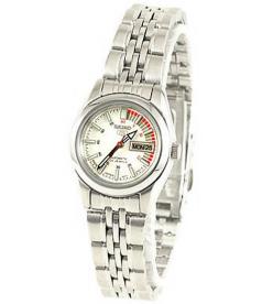 Seiko Women's 5 Automatic SYMA41K White Stainless-Steel Automatic Watch