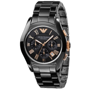 Emporio Armani Men's Ceramica AR1410 Black Ceramic Quartz Watch