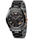 Emporio Armani Men's Ceramica AR1410 Black Ceramic Quartz Watch - Main Image Swatch