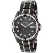 Bulova Men's 98D107 Mother-Of-Pearl Stainless-Steel Quartz Watch
