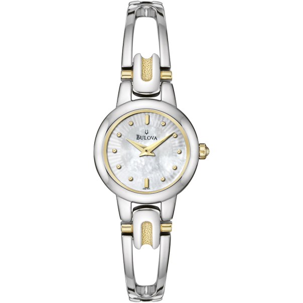 Bulova Women's 98L141 Mother-Of-Pearl Stainless-Steel Quartz Watch