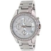 Fossil Women's ES2681 White Stainless-Steel Analog Quartz Watch