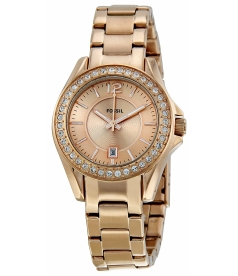 Fossil Women's Riley ES2889 Rose-Gold Stainless-Steel Analog Quartz Watch