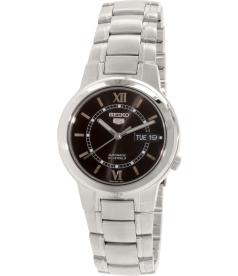 Seiko Men's 5 Automatic SNKA23K Black Stainless-Steel Automatic Watch