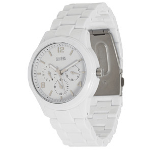 Guess Women's U11644L1 White Resin Quartz Watch