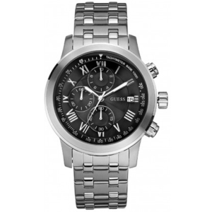 Guess Men's W13550G1 Black Stainless-Steel Quartz Watch