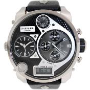 Diesel Men's DZ7125 Black Leather Quartz Watch