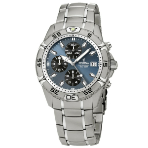 Festina Men's Estuche F16169/4 Blue Stainless-Steel Quartz Watch