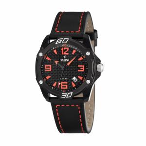 Festina Men's Sahara F16491/6 Black Leather Quartz Watch