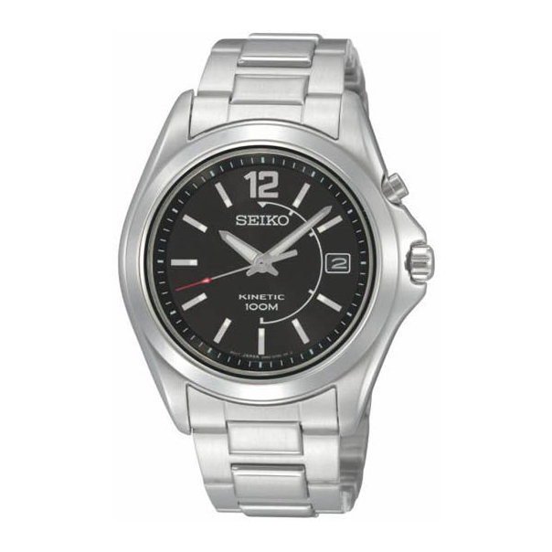 Seiko Men's SKA477 Silver Stainless-Steel Quartz Watch