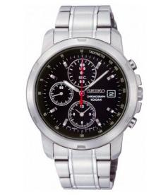 Seiko Men's SNDB03 Black Stainless-Steel Quartz Watch