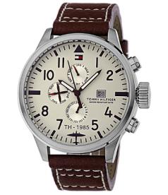 Tommy Hilfiger Men's 1790684 Beige Leather Quartz Watch