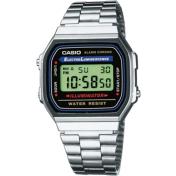 Casio Men's Core A168WA-1 Silver Plastic Quartz Watch
