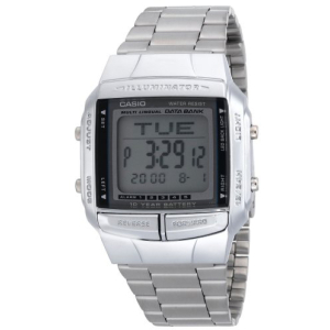 Casio Men's Illuminator DB360-1A Silver Stainless-Steel Quartz Watch
