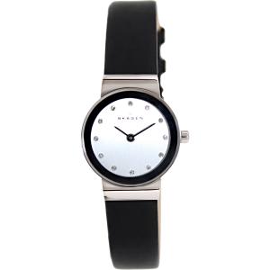 Skagen Women's Classic 358XSSLBC Silver Leather Quartz Watch