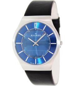 Skagen Men's Classic 833XLSLN Blue Leather Quartz Watch