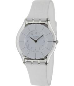 Swatch Women's Skin SFK360 White Resin Quartz Watch