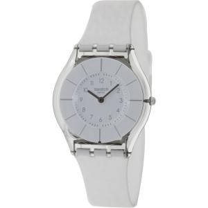 Swatch Women's Skin SFK360 White Silicone Quartz Watch