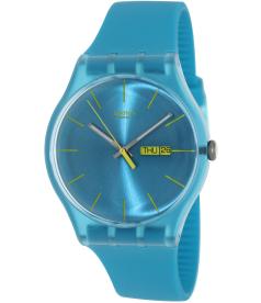 Swatch Men's Originals SUOL700 Blue Resin Swiss Quartz Watch