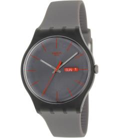 Swatch Men's Originals SUOM702 Grey Resin Quartz Watch
