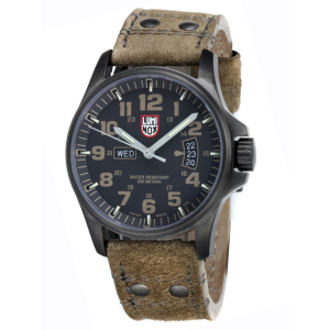 Luminox Men's Atacama Field Day-Date 1833 Black Leather Quartz Watch