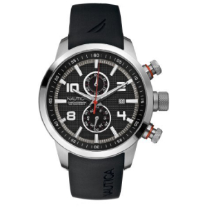 Nautica Men's NCT-400 Chrono N17579G Black Resin Quartz Watch