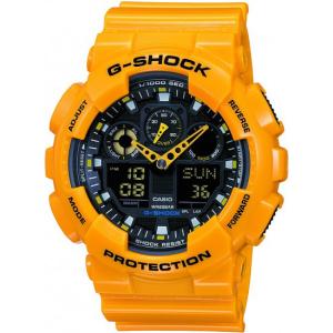 Casio Men's G-Shock GA100A-9A Black Resin Quartz Watch