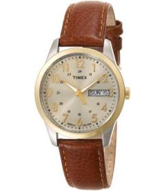 Timex Men's Elevated Classics T2N105 Beige Calf Skin Analog Quartz Watch