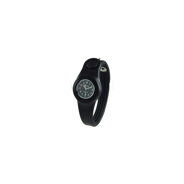 Geneva Platinum Unisex 3347.Black Black Silicone Quartz Watch