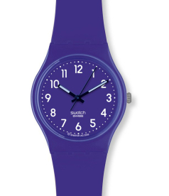 Swatch Women's Originals GV121 Purple Plastic Swiss Quartz Watch